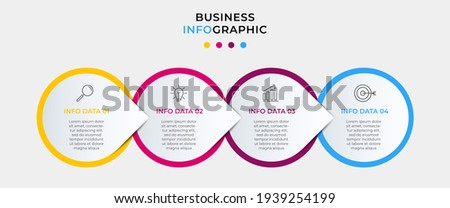 Vector Infographics with 4 options or steps. Business concept. Can be used for presentations banner, workflow layout, process diagram, flow chart, info graph