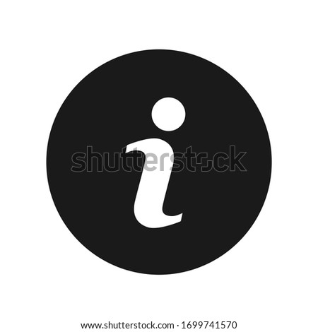 Vector information icon symbol isolated on white background. Photo stock ©