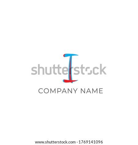 vector initial letter ii