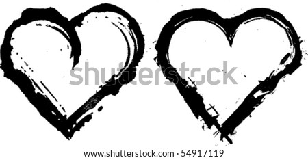 vector ink hearts