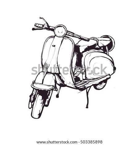 vector ink illustration  hand