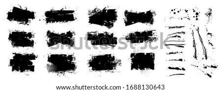 vector ink splashes stencil