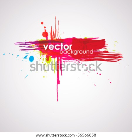 Vector inky colorful background