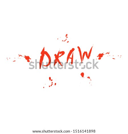 vector inscription draw with