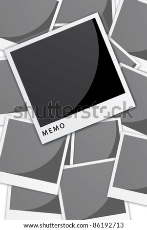 Vector instant photo frames