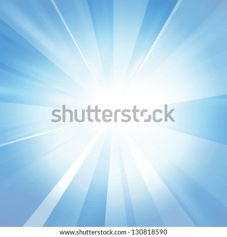 stock-vector-vector-intense-sun-on-a-soft-blue-background