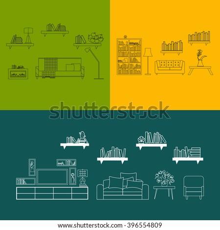 vector interior designflat