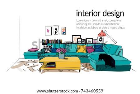 vector interior design