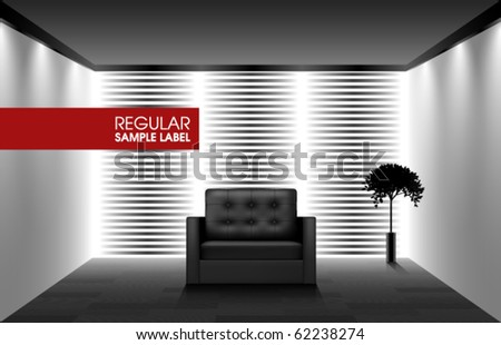Vector Interior Furniture Design - stock vector
