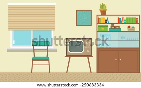vector interior of a living