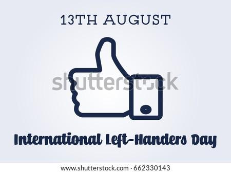 Vector International Left-Handers Day Poster