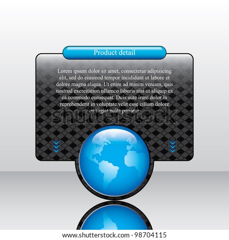 Vector internet advertising web box