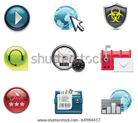 Vector internet and network icons. Part 2