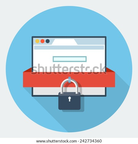 vector internet security icon