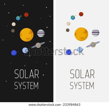 Vector Interstellar Space Illustration Of Solar System ...