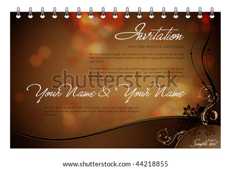 stock vector Vector Invitation Card Greeting Card or Menu Template