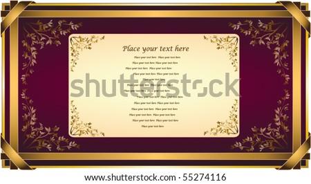 Vector invitation card or congratulations. Elegant Design Background. Greeting Card.