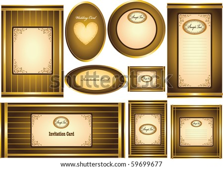 Vector Invitation Card or Greeting Card for Valentine's Day