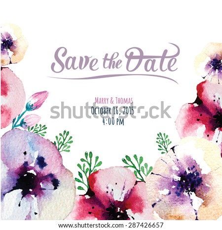 vector  invitation card with
