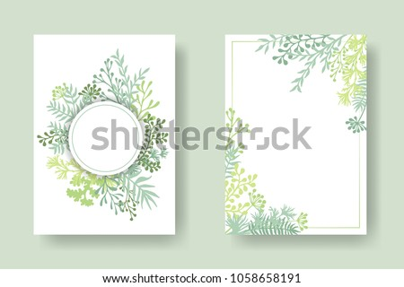 vector invitation cards with