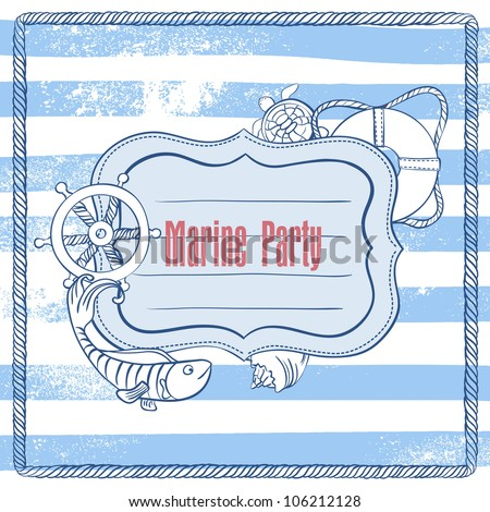 Vector Invitation to a Sea Party