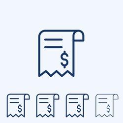 Vector Invoice, Sales receipt, line icon