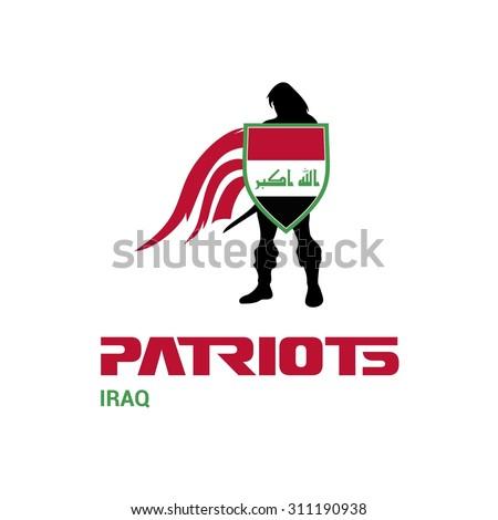 vector iraq flag patriots