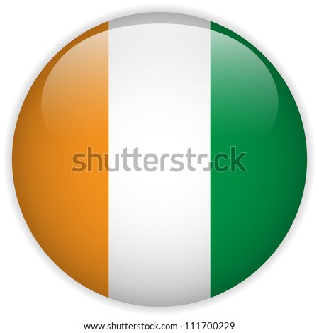 vector   ireland flag glossy