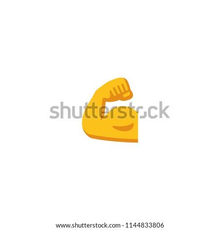 Vector isolated biceps icon ストックフォト ©