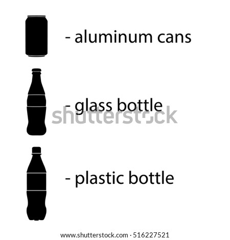 vector isolated bottles