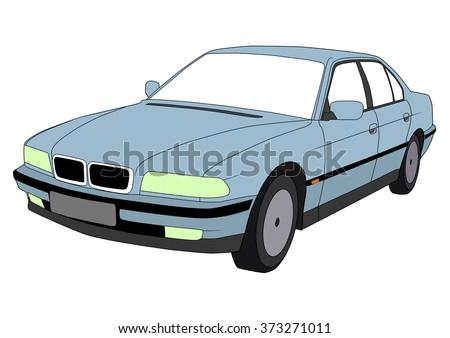vector isolated car