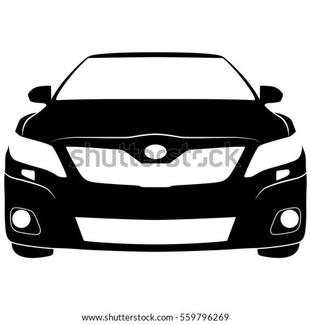 vector isolated car sign