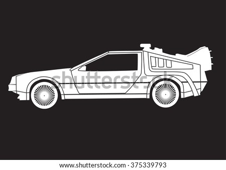 vector isolated car silhouette