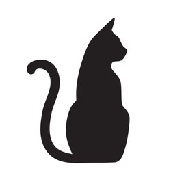 Vector isolated cat silhouette, logo, print, decorative sticker