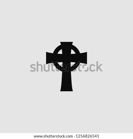 vector isolated Celtic cross icon