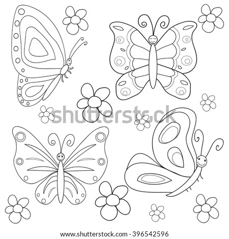 vector   isolated coloring book