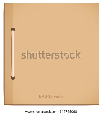 Vector isolated craft notebook, copybook leaf. Empty blank for rating, notes. School and business template