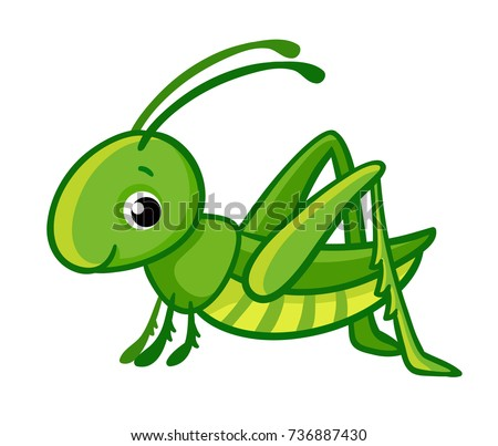 vector isolated cute green