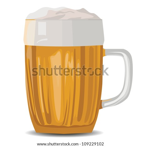 vector isolated illustration of a pint