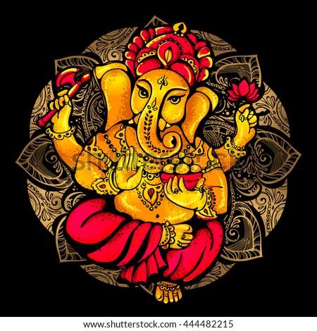 vector isolated image of hindu