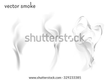 vector isolated image of smoke