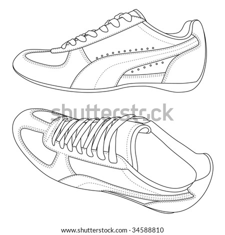 Vector isolated image of sport shoes.