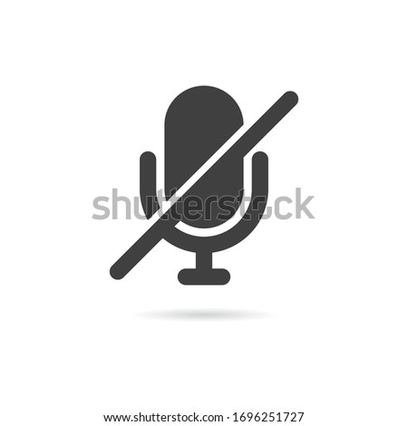 Vector Isolated Microphone Off Icon