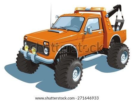 vector isolated monster tow