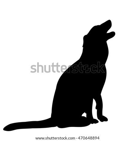 vectorisolated on a white backgroundthe silhouette of a dog sitting 470648894