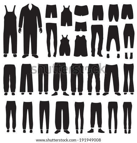 vector isolated pants