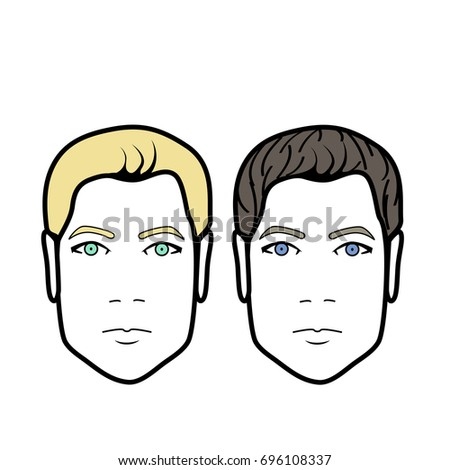 vector isolated people heads