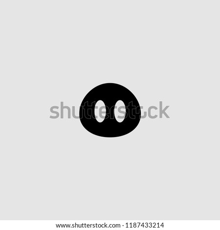 vector isolated pig nose