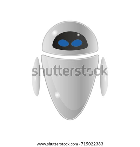 vector isolated robot sign