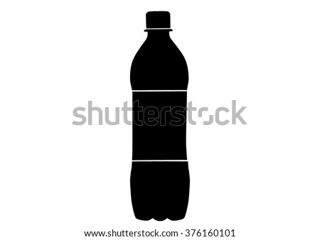 Vector isolated silhouette bottle